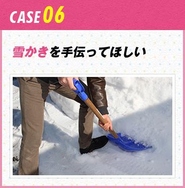 CASE06 雪かきを手伝ってほしい